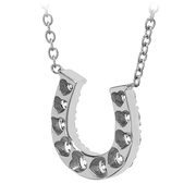 Hearts On Fire Diamond Horseshoe Necklace