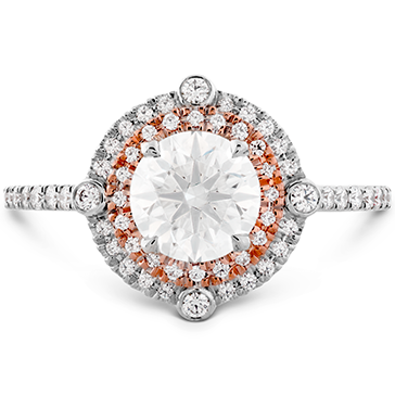 Hearts On Fire Compass Double Halo Diamond Engagement Ring