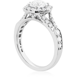 Hearts On Fire Hexagonal Split Shank Diamond Engagement Ring