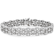 Hearts On Fire Regal Triple Row Diamond Bracelet
