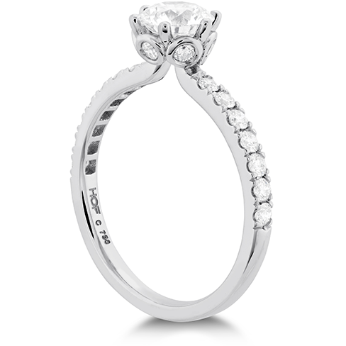 Hearts On Fire Signature Bezel Basket Diamond Engagement Ring