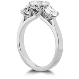 Hearts On Fire Signature Classic Three Stone Diamond Engagement Ring