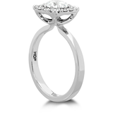 Hearts On Fire Signature Custom Halo Diamond Engagement Ring