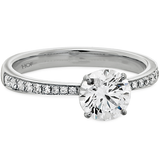 Hearts On Fire Signature Engagement Ring with Diamond Band