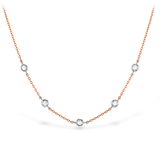 Hearts On Fire Signature Off-Set Five Bezel Necklace