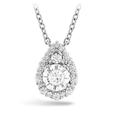 Hearts On Fire Teardrop Halo Diamond Necklace