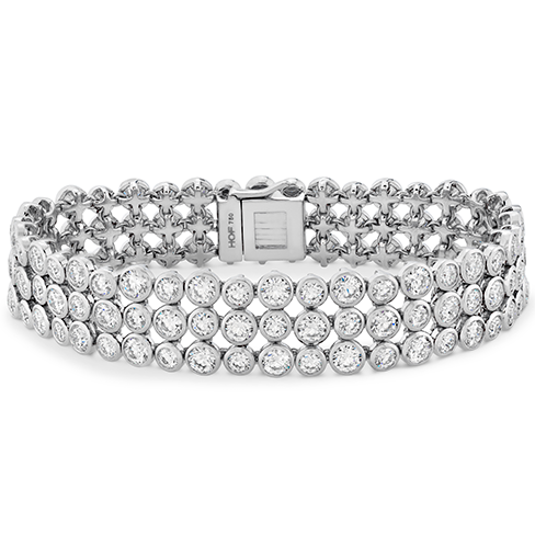 Hearts On Fire Triple Bezel Diamond Bracelet