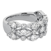 Hearts On Fire Bezel Regal Triple Diamond Ring