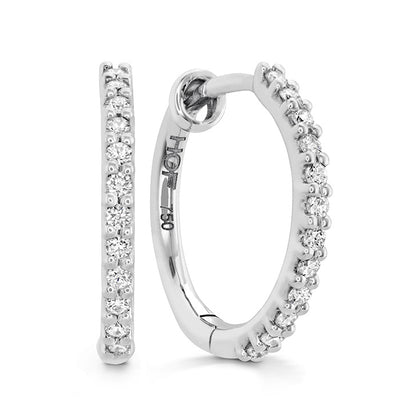 Hearts On Fire Classic Hoop Small Diamond Earrings