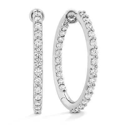 Hearts On Fire Classic Inside Out Hoope Medium Diamond Earrings