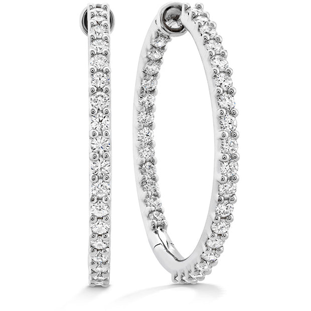 Hearts On Fire Classic Inside Out Hoop Large Diamond Earrings