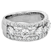 Hearts On Fire Enticing Three Row Diamond Ring