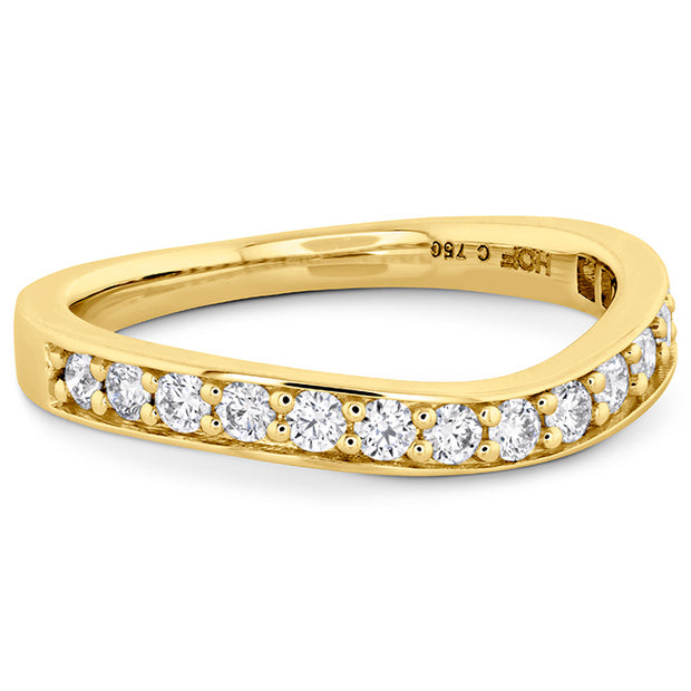 Hearts On Fire Hexagonal Curved Diamond Band