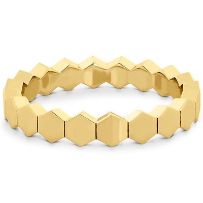 Hearts On Fire Hex Metal Eternity Band