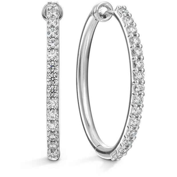 Hearts On Fire Classic Hoop Large Diamond Earrings
