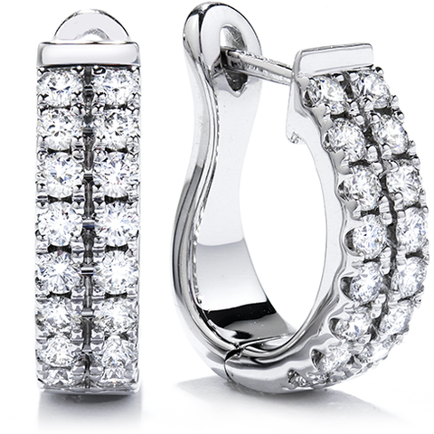 Hearts On Fire Classic Double Row Hoop Diamond Earrings