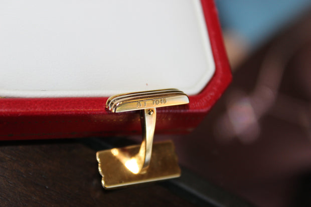 Estate Cartier Trinity 18K tri gold cufflinks