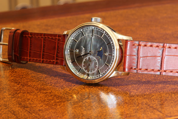 Estate HABRING² SS Time Moonphase Tahitian Mother of Pearl dial watch