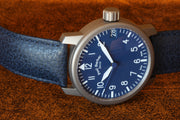 Paul Gerber Model 42 Blue Pilot Watch