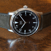 "SUF Helsinki ""180"" S Black dial Ltd Edition Field watch on strap"