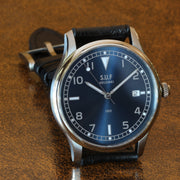 "SUF Helsinki ""180"" S  Blue dial Ltd Edition Field watch on strap"