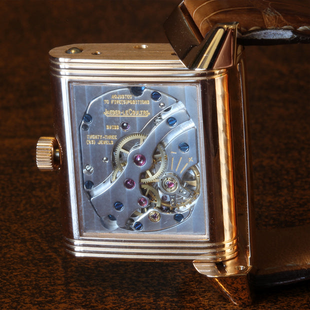 Estate 18K RG Jaeger- Le Coultre Reverso Sun Moon watch