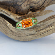 Passion Collection Mandarin and Tsavorite Garnet & diamond ring