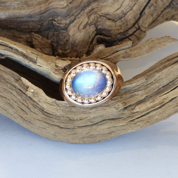 Passion Collection 18k RG Moonstone ring