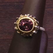 "Passion Collection ""Lotus"" burgundy Spinel & diamond ring"