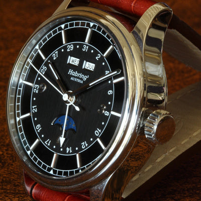Estate HABRING² SS Jumping Seconds Calendar Watch
