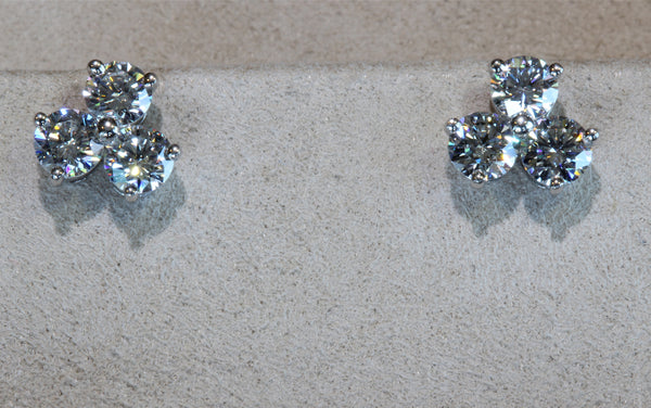 "Estate platinum Tiffany & Co. ""Aria"" earrings"