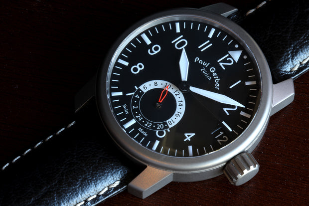 Paul Gerber Model 42 Pilot Dual Time watch