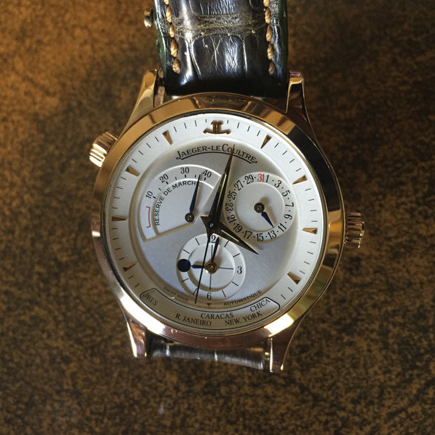 Estate 18K RG Jaeger- Le Coultre Master Geographic watch