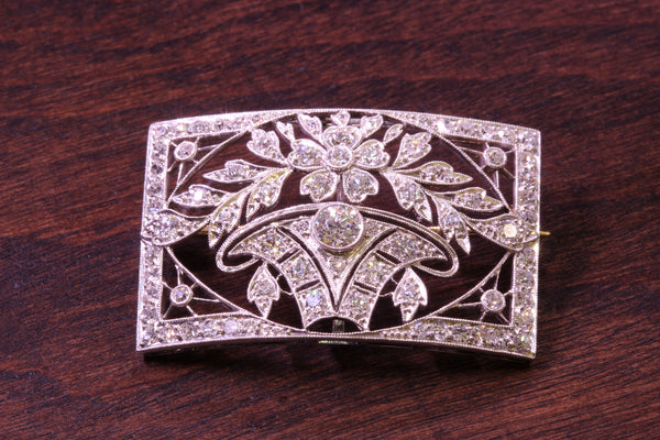 Edwardian platinum C.1910 J. E. Caldwell diamond filigree choker/pin