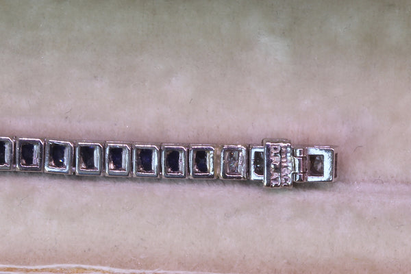 Estate platinum C.1950 Tiffany & Co. blue sapphire & diamond bracelet