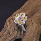 Passion Collection natural colored diamond Flower ring