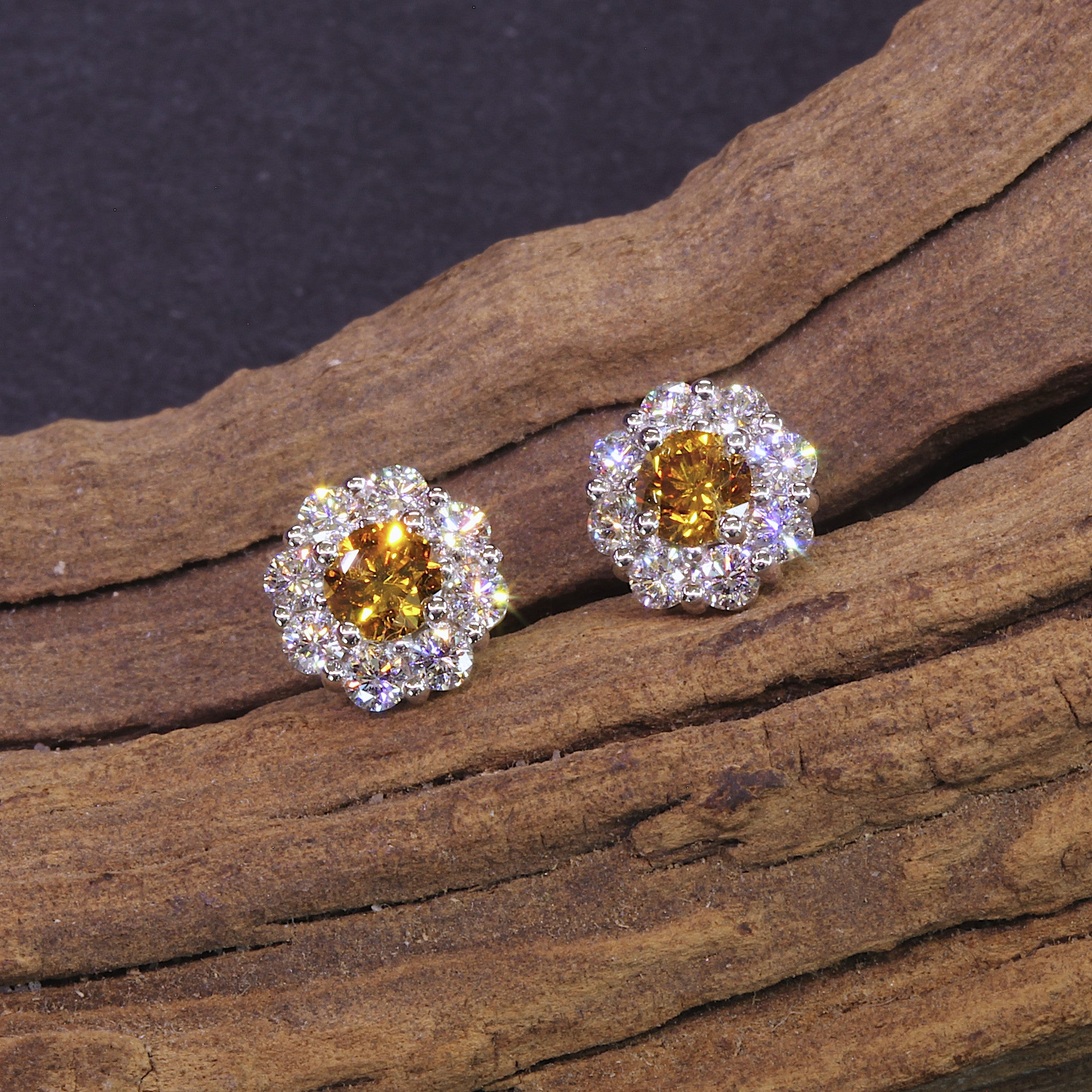img langerman colored diamond earrings stud diamonds jewelry color custom bronze natural