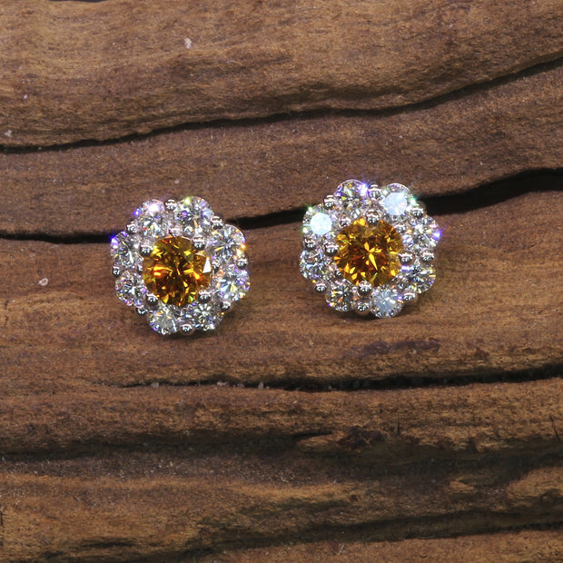 Passion Collection natural colored Diamond stud earrings