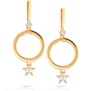 Hearts On Fire Illa Circle Drop Diamond Earrings
