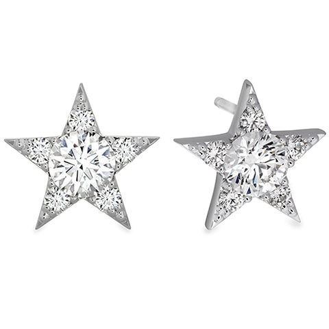 Hearts On Fire Illa Cluster Stud Diamond Earrings