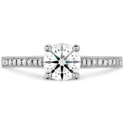 Hearts On Fire Illustrious Engagement Ring with Diamond Band