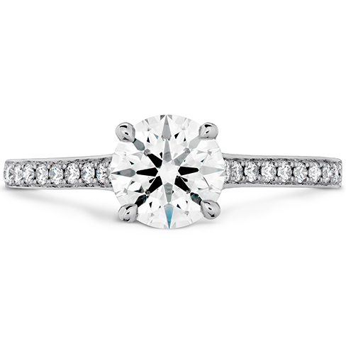 Hearts On Fire Illustrious Engagement Ring Diamond Intensive Band