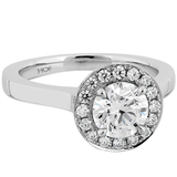 Hearts On Fire Illustrious Halo Diamond Engagement Ring