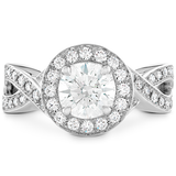 Hearts On Fire Illustrious Halo Twist Diamond Engagement Ring