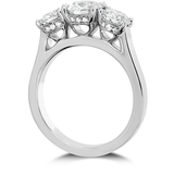 Hearts On Fire Illustrious Three Stone Diamond Engagement Ring