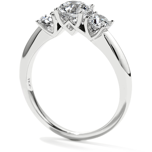 Hearts On Fire Insignia Three Stone Channel Engagement Ring