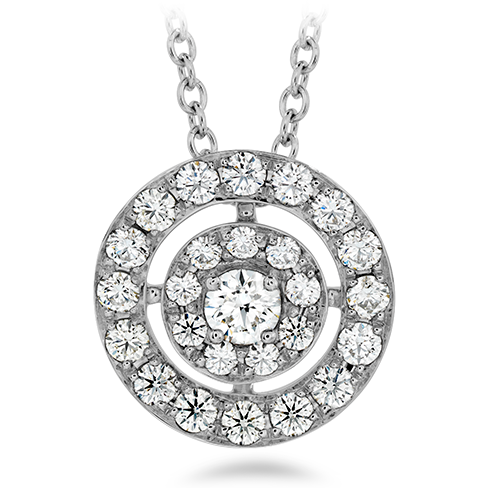 Hearts On Fire Inspiration Double Halo Pendant Necklace