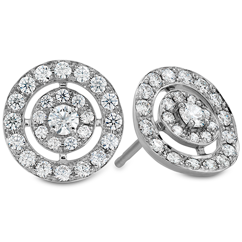 Hearts On Fire Inspiration Double Halo Diamond Stud Earrings