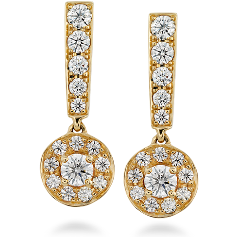 Hearts On Fire Inspiration Single Halo Drop Diamond Earrings