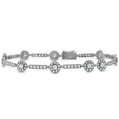 Hearts On Fire Inspiration Single Halo Line Bracelet